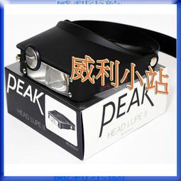 【威利小站】全新 日本PEAK 頭戴式放大鏡 量測放大鏡 2035-II 倍率2.2X/3.3X/4.1X/5.2X