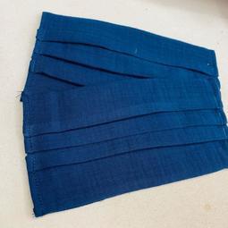深藍/黑色 素色 手作 口罩套 布口罩套 😷 二重紗口罩套成品