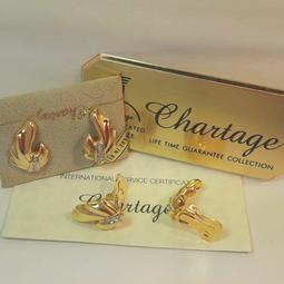 【比利時 Chartage】無過敏無鎳包18K金水晶鑽 夾式耳環(9304489)