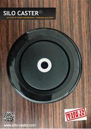 【鑫隆輪子Silo-caster】4x1 1/4英吋/PU空輪/不掉色漆光黑/推車輪/輪子/醫療用輪/工業用輪/儀器輪