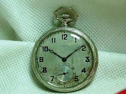 【奇珍館 】【絕版真品】近百年ILLINOIS鐵道 級古董懷錶稀少機心媲美pp品相完美難得一見錶徑(44mm機械錶