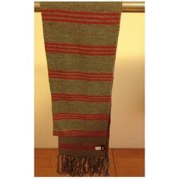 全新NATURALLY JOJO 灰紅條文圍巾~男女適用喔~買就送手套哦!聖誕禮物