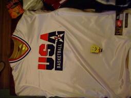 請先看關於我-喬丹奧運美國夢幻隊熱身衣  usa dream team jordan XL