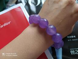 冰種紫羅蘭~印尼天然玉瓍【紫玉瓍鑽石切割】16mm手珠 手鍊