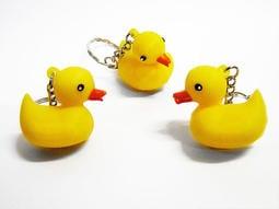 【常田 EZ GO】黃色小鴨 鑰匙圈 匙扣圈 黃色小鴨軟膠鑰匙圈 玩具鴨吊飾 飾品 12入/180元
