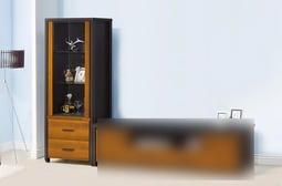 『昱陽傢俱』2.2×6尺黃金雙色展示櫃/玻璃櫃/櫃子/全新品【桃園以北免運費】