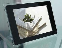 12.1吋數位相框 透明亞克力電子相框鬧鐘TFT顯示屏12.1寸電子相框
