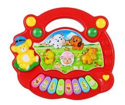 柚子貓【D1007419】動物農場 互動式寶寶音樂琴 啟蒙教育 兒童電子琴玩具 益智早教
