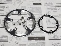 全新WHEEL BCD110 50/34T 7075-T6 CNC齒盤(FC-3550 FC-3450 SRAM參考)