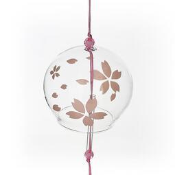 【可開發票】風鈴 創意櫻花玻璃江戶和風樹下的風鈴掛飾禮品同學※優品百貨※