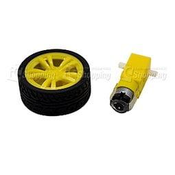 《iCshop3》TT馬達+65mm 車輪 黃色●368030501301●直流減速馬達 智能 小車 輪胎 1:48 Arduino
