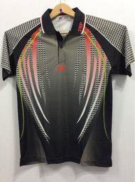 桌球孤鷹~正品TSP桌球衣~頂級材質款-型號9803(灰黑色)~廠商斷碼超低特價!