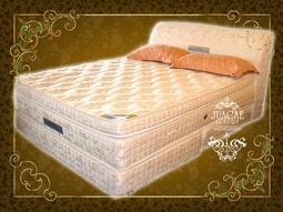 ※高雄~專業睡眠館※(尊爵頂級床組)4線乳膠雙層高獨立筒+飯店彈簧下墊+提花床頭 5折21000