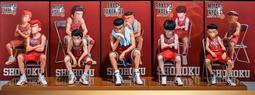 《ONLY TOY》優質港版  灌籃高手  湘北高校五虎  板凳  5款 附底座及明信片  盒裝  高約15-17公分