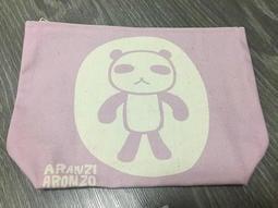 日本 ARANZI ARONZO 阿朗基 阿龍佐 大帆布袋 熊貓君(粉紫) 日本帶回