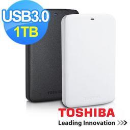 TOSHIBA 黑白靚潮 USB3.0 1TB 2.5吋行動硬碟