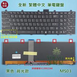 【漾屏屋】含稅 微星 MSI GE60 2PE 2PF GE70 2PE 2OE 2QD MS-1759 背光 筆電鍵盤