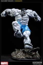 (稀有) Sideshow Grey Hulk Comiquette ( Exclusive, 浩克限定版雕像)