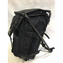 黑色強化鋁合金管板凳背包椅野戰背包椅戰術背包登山背包椅彈匣袋參謀袋公文袋後背包~可開發票~p000044677