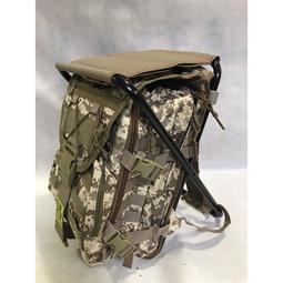 沙漠數位迷彩強化鋁合金管板凳背包椅 野戰背包戰術背包椅 登山背包椅參謀袋公文袋後背包~可開發票~p000044677