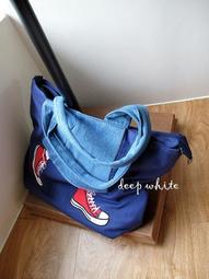 非Mis Zapatos 牛仔裙+紅球鞋 手提包 單肩包 托特包 側背包