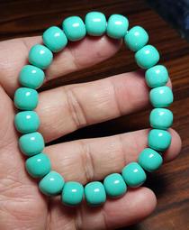 菱鎂礦 綠松石老型珠手鍊 手珠手鍊DIY串珠隔珠項鍊❤水晶玉石特賣#A1152