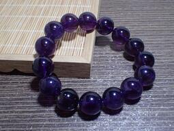 貝石之戀~優質烏拉圭紫水晶手鍊 J 052715