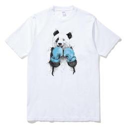 Boxing Panda 短袖T恤 白色 歐美潮牌拳擊熊貓趣味幽默動物貓熊