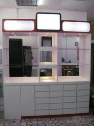 億品保養品展示櫃.眼鏡櫃.玻璃櫥櫃、展示櫃、玻璃櫃、手機櫃、飾品櫃、珠寶櫃、化妝品櫃.公仔櫃