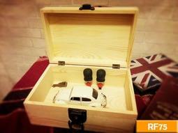 實木帶鎖收納盒 (原木色) RF75 飾品 印章盒 文具盒 收納盒 寶箱 工業風 復古 美式 鎖盒 婚禮小物 結婚 婚禮