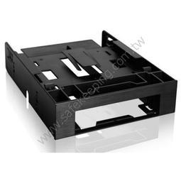 ICY DOCK MB343SP 3.5吋+雙2.5吋裝置槽轉5.25吋轉接套件