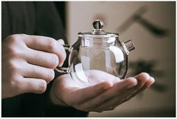 【紅芳庭】耐熱 玻璃茶壺 / 砲彈壺 120ML 無鉛 玻璃 玻璃壺 高硼矽耐熱 茶壺 茶具