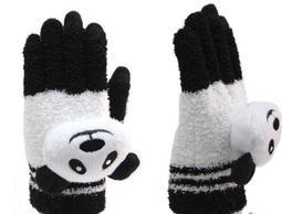 可愛卡通造型   平板電腦  智慧型手機專用 保暖手套  小熊貓