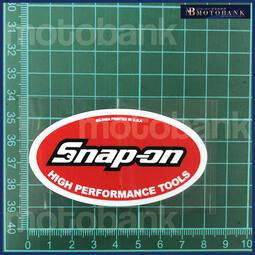 [MOTOBANK] Snap-on(8cm) 立體 防水 機車貼紙 車身貼 E00840