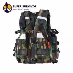 超級生還者系列救生衣「SUPER SURVIVOR」認證NO.A2 激流救生衣 末日救難救援溯溪泛舟水上活動衝浪釣具泳具