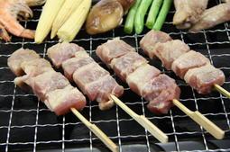 【烤肉組合】櫻桃鴨肉串 (8串/約280g) 鴨肉串帶有鴨皮口感Q彈香嫩多汁不乾柴~簡單烤肉醬涮一涮香噴噴的烤鴨肉串來了