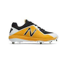 a4af680814776 棒球世界全新NB NEW BALANCE 棒球釘鞋黃白型號:L4040BY4-2E 特價