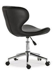 【南洋風休閒傢俱】時尚造型辦公椅系列-盧克時尚黑/白色轉椅 JX286-1-2