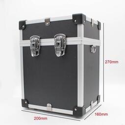 雷射水平儀專用儀器箱 - 全新黑鋁箱 (附背帶/含內襯/鑰匙) 工具箱 收納箱 置物箱