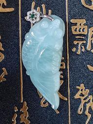 【金龍翡翠】冰種淡綠【鯉魚1】緬甸玉翡翠<A貨>玉石