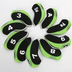現貨 yo ki高爾夫鐵桿套10支裝數字球桿套帽套鐵桿套5色選擇 特價