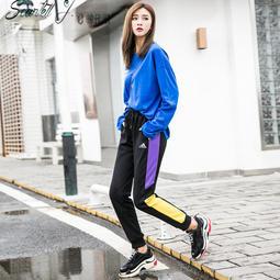 Adidas 愛迪達  加絨運動褲 休閒褲 長褲  縮口褲 收腿 小腳褲子