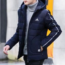 M-3XL 四色愛迪達 adidas 三葉草棉衣 阿迪外套 外套 純棉外套 保暖外套 運動外套 加厚連帽外套8111