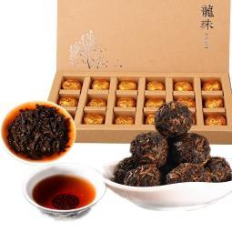 220g Ripe Pu erh Tea Handmade Dragon Ball Old Tree Spring Palace Cooked Puer Tea