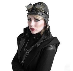 【暉長豪商行】魔卡騎龐克飛行帽 造型帽飾 龐克復古 角色扮演 表演道具 一戰二戰 軍迷 收藏 懷舊 型男 擺飾 飛行帽