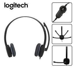羅技 Logitech H151 立體耳機麥克風 // 適用電腦與平板電腦和智慧型手機 // 全新品 // 黑色