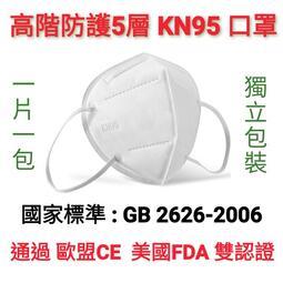 【台灣現貨】五層立體高階防護 KN95 成人口罩