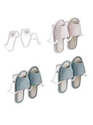 夏季上新 鞋架 鞋櫃浴室拖鞋架牆壁壁掛式免打孔壁掛衛生間拖鞋鞋架掛式免釘收納神器
