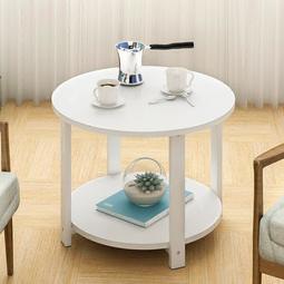 新品優惠*床頭柜 衣柜 蔓斯菲爾茶幾圓形小圓桌現代沙發邊幾邊櫃簡約角幾北歐邊桌電話桌--米蘭秀