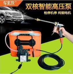 12v洗車水泵車載雙泵洗車機220v高壓家用便攜式水槍電動刷車神器【汽車用品】